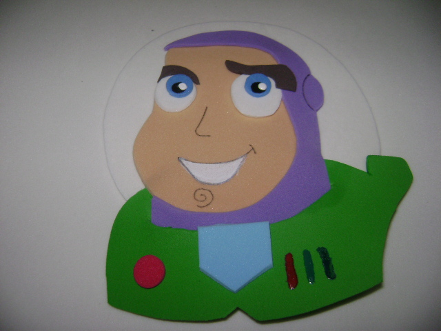 Apliques Grandes Do Buzz Toy Story Em Eva
