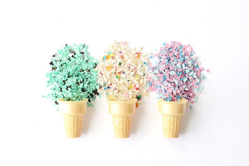 The Confetti Bar; confetti ice cream cones