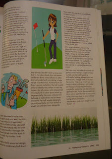 Golf article, magazine, article