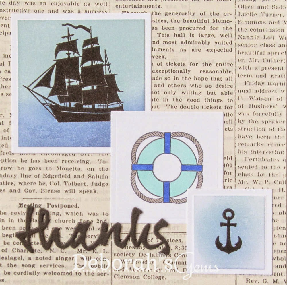 Nautical thanks - photo by Deborah Frings - Deborah's Gems