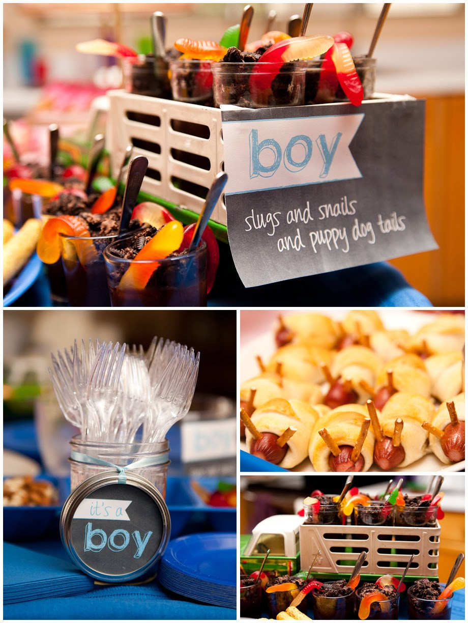 gender reveal party food