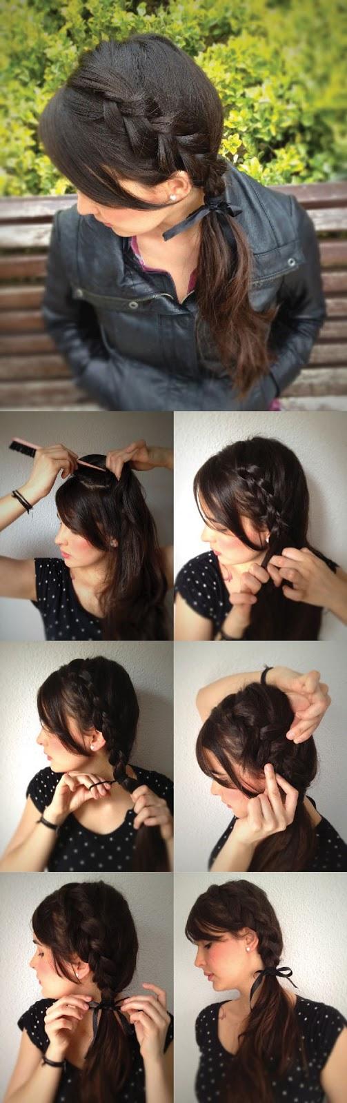 Лёгкие косички на короткие волосы