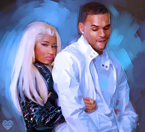 #OMFG: Nicki Minaj kisses Chris Brown for Right By My Side!