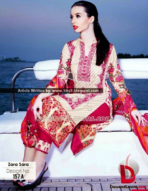 Dawood Zara Sara Embroidered Lawn 2015