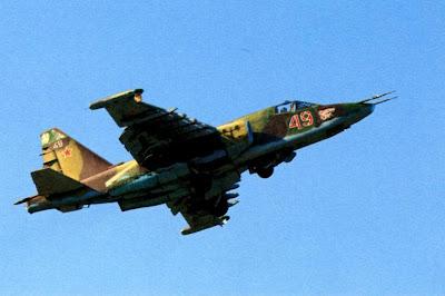 Взлетает Су-25 960-го штурмового авиаполка