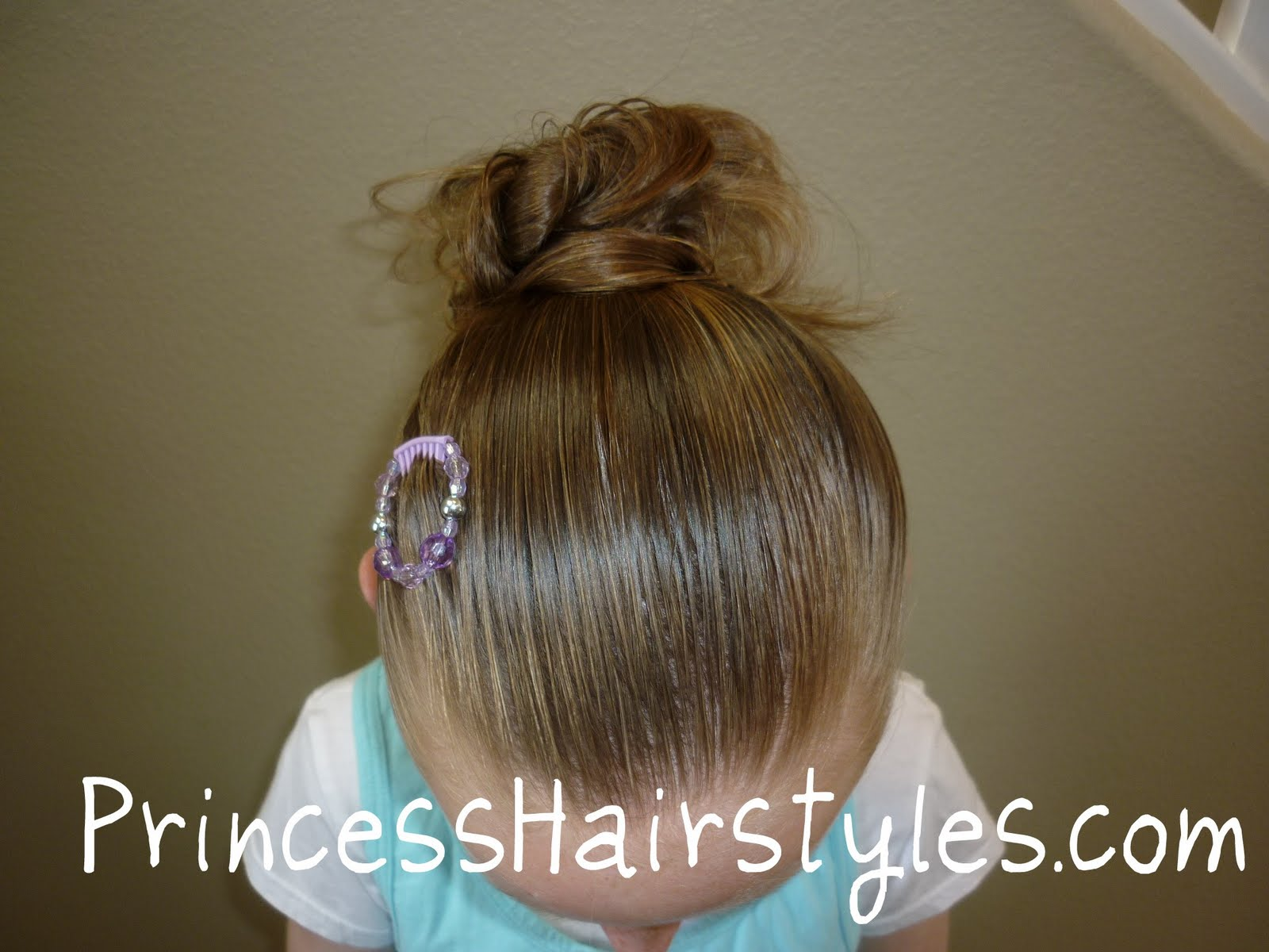How to make a messy bun hairstyles for girls princess hairstyles messy bun with clip urmus Gallery
