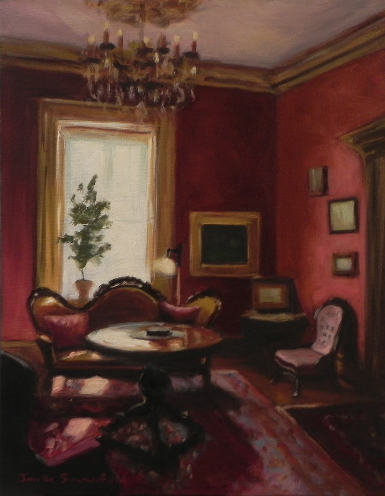 Jonelle Summerfield Oil Paintings Drawing Room Ii