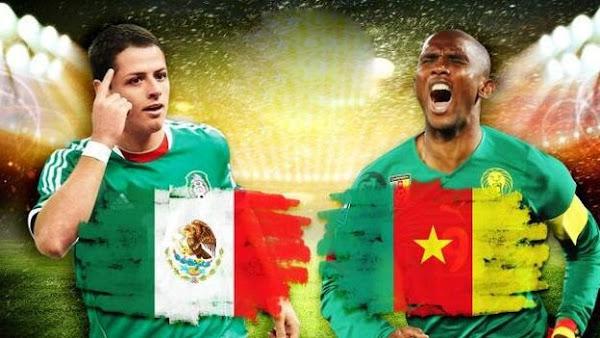 REPETICION SELECCIONES MEXICO VS CAMERUN, Goles, Resultados, Estadisticas, Online
