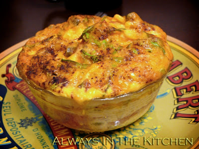Breakfast at home: Chile Corn Breakfast Casseroles