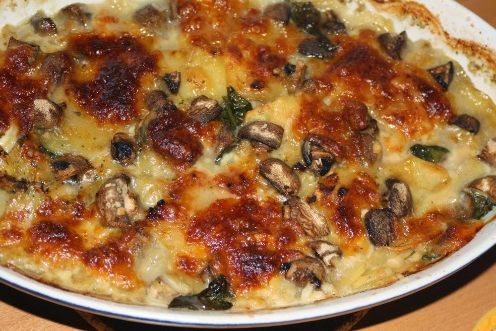 Karstens Blog Kartoffel Pilz Auflauf