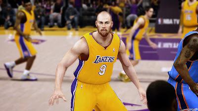 2K Chris Kaman L.A. Lakers Realistic Face Texture