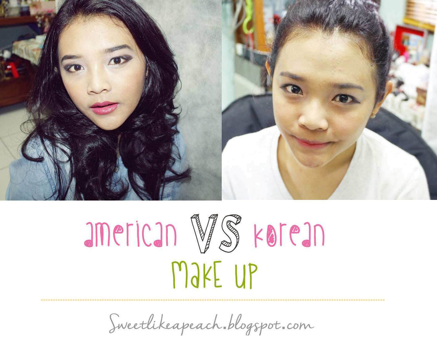 american make up VS korean make up beauty blogger Indonesia