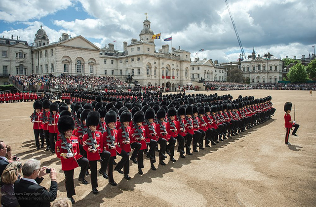 Queens Birthday Trooping of colours at Horse Guards Parade