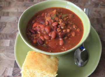 beef and bean chili | greens & chocolate