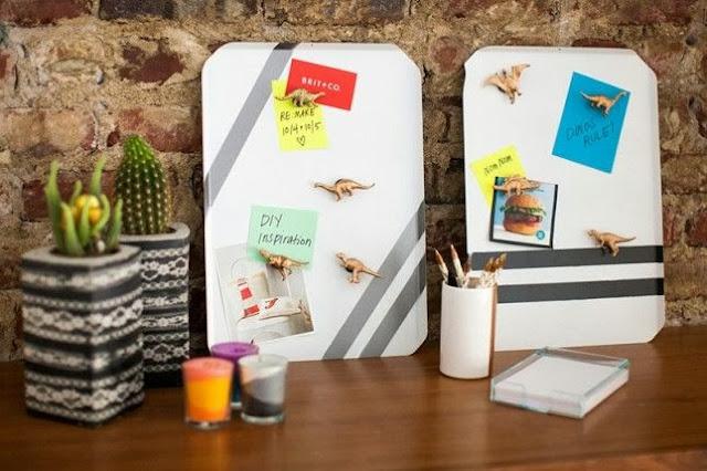 DIY Cookie Sheet Memo Boards