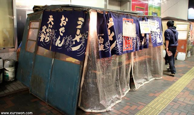 Yatai de comida ambulante en Fukuoka