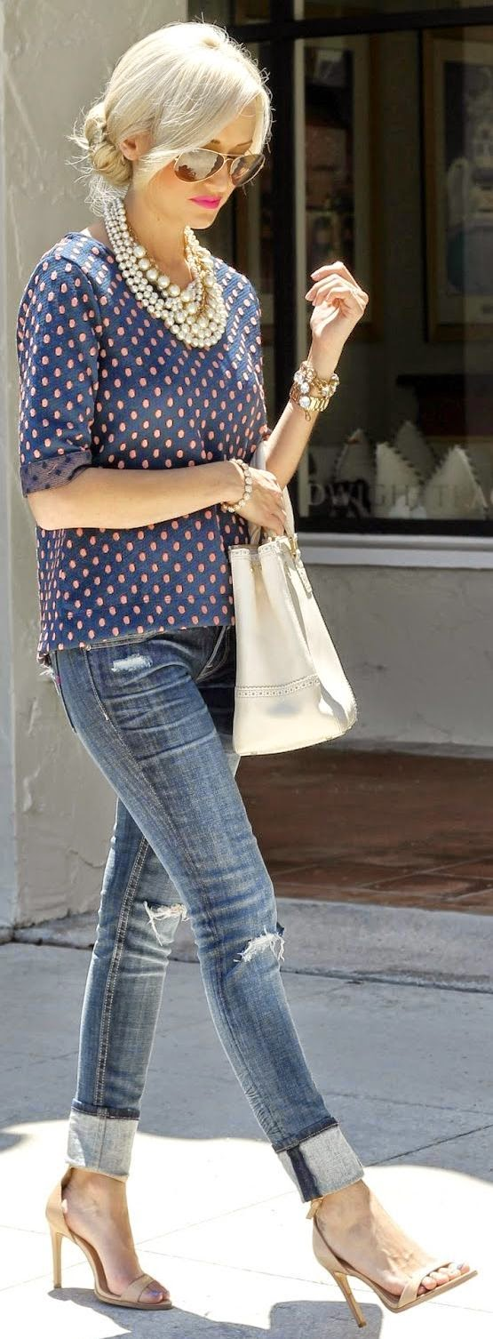 Camisa feminina de bolinha, poá moda feminina, roupas da moda, polka fashion