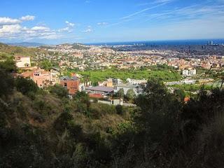 Barcelona from Carretera de les Aigües