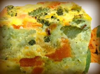 Budín de brócoli y coliflor