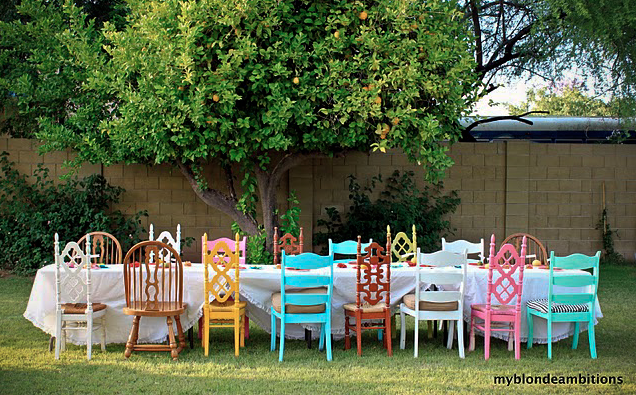bright wedding chairs
