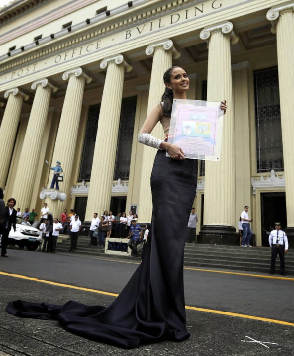 Miss World Megan Young postage stamps issued