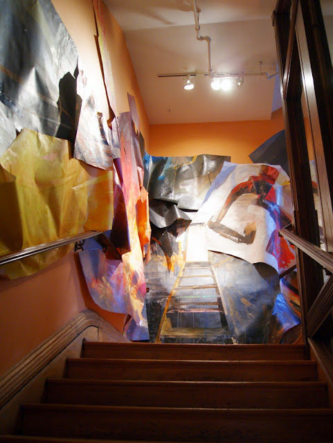 Come Up To My Room 2015, Gladstone Hotel in Toronto, CUTMR, culture, event, installations, art, artmatters, design, interior, Ontario, Canada, artists, TODO, IDS, The Purple Scarf, Melanie.Ps,Phil Irish, Ascent, Staircase, painting