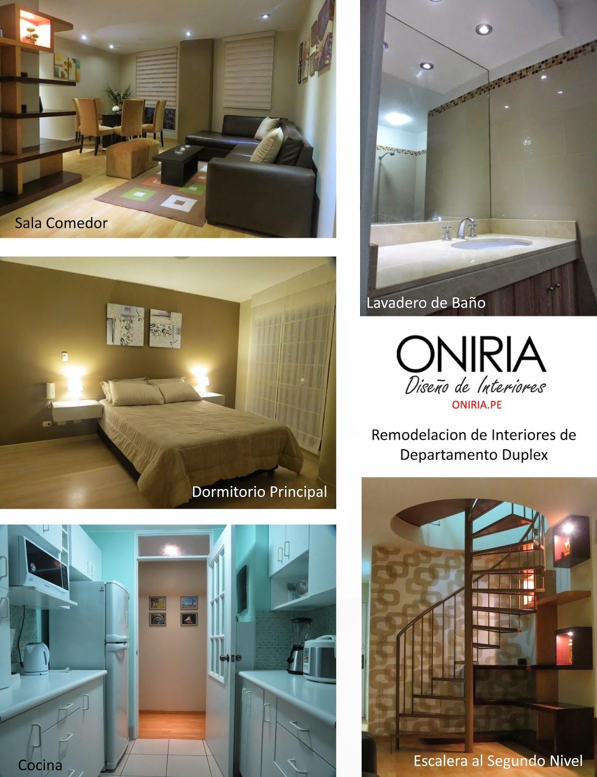 Oniria remodelaci n integrales de interiores de casas y for Interiores de departamentos