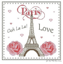 SAL 'I Love Paris' (punt de creu)