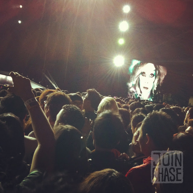 """An excited crowd for Lady Gaga's """"Born This Way Ball"""" at Olympic Stadium in Seoul, South Korea."""
