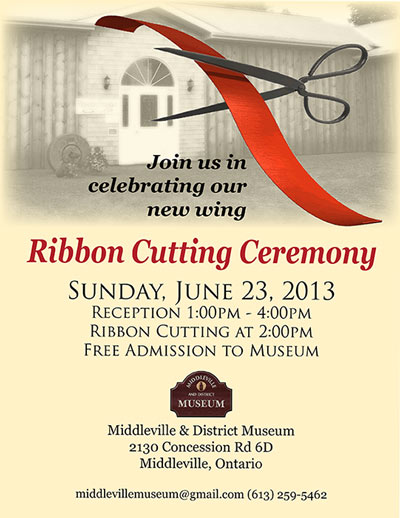 Ribbon Cutting Ceremony June 23, 2013 1-4pm