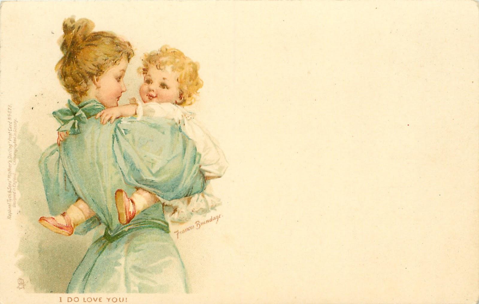Старинные открытки с детками 8