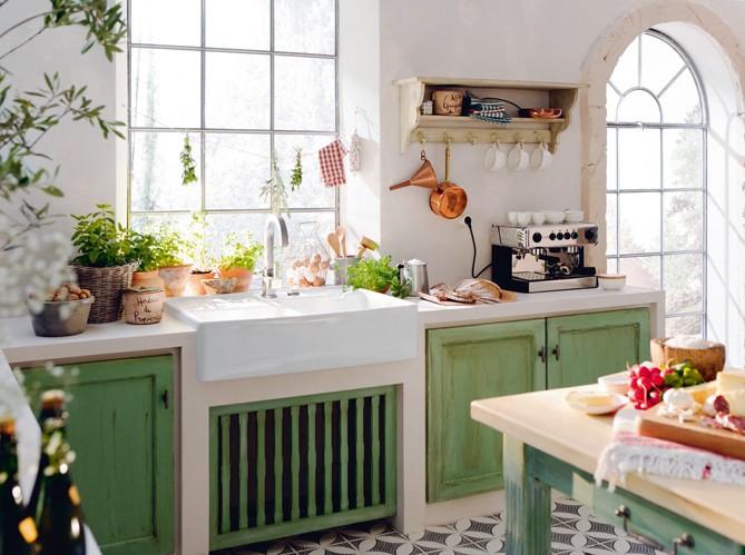 Decorando y renovando cocinas con encanto - Evier cuisine style ancien ...