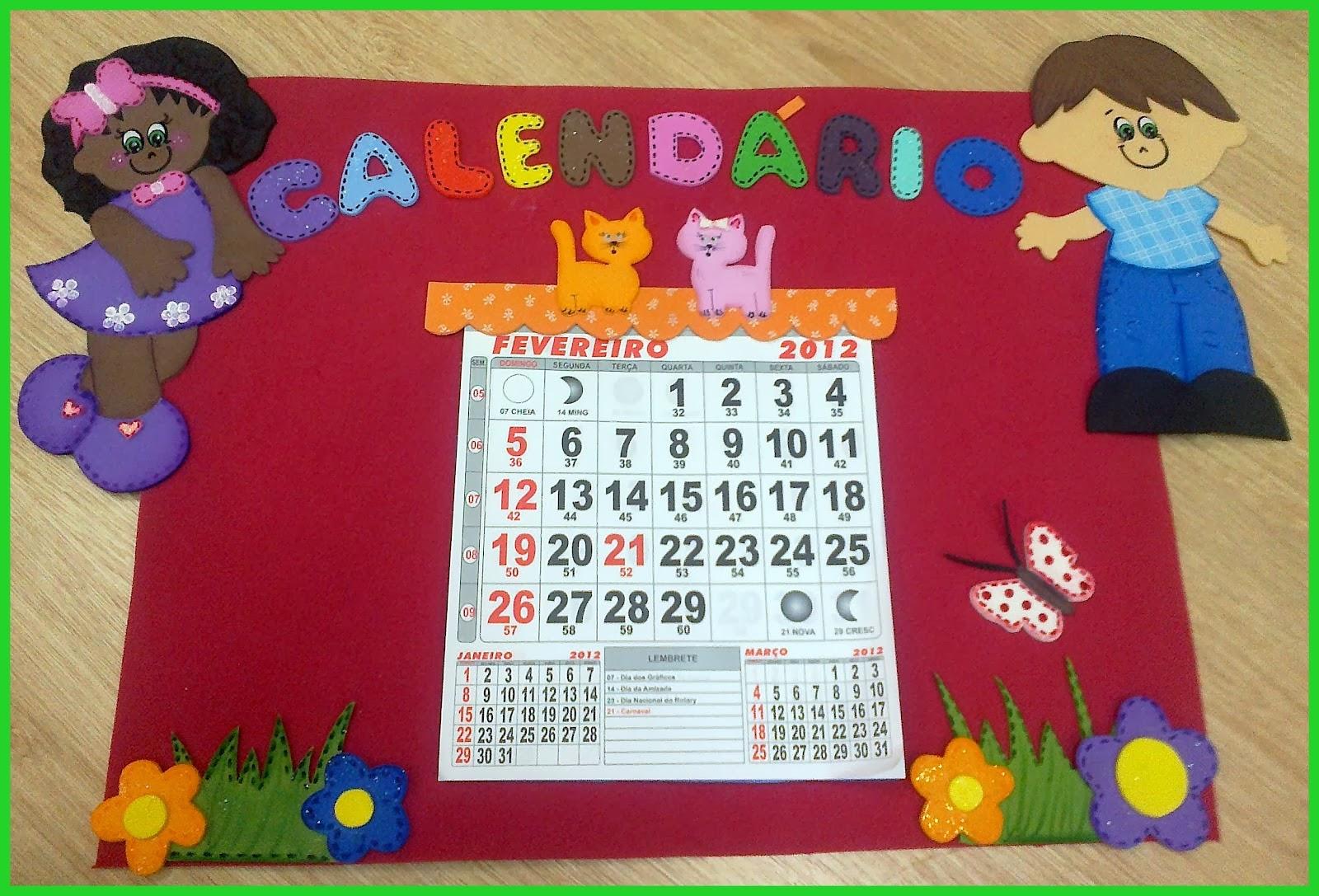 Fabuloso Ensinando com Carinho: Calendários de EVA PG04