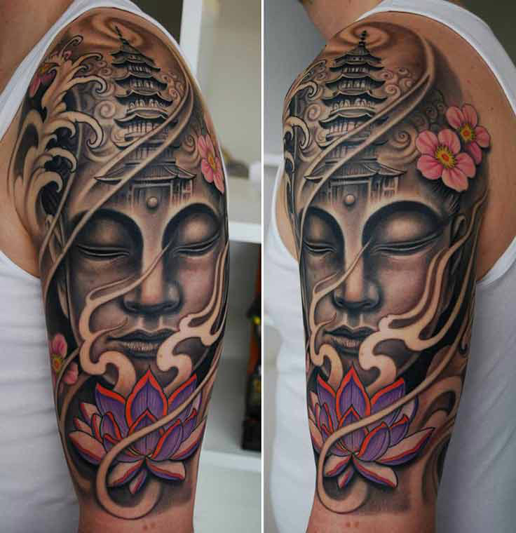 Tatueringar 35 attractive lotus flower tattoo designs buddhist lotus flower tattoo mightylinksfo