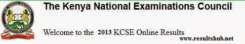 KCSE 2013 Result Declared
