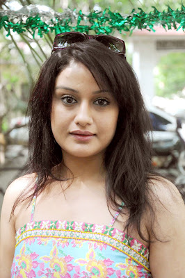 South Actress Sonia Agarwal looking sober and simple in summer outfit