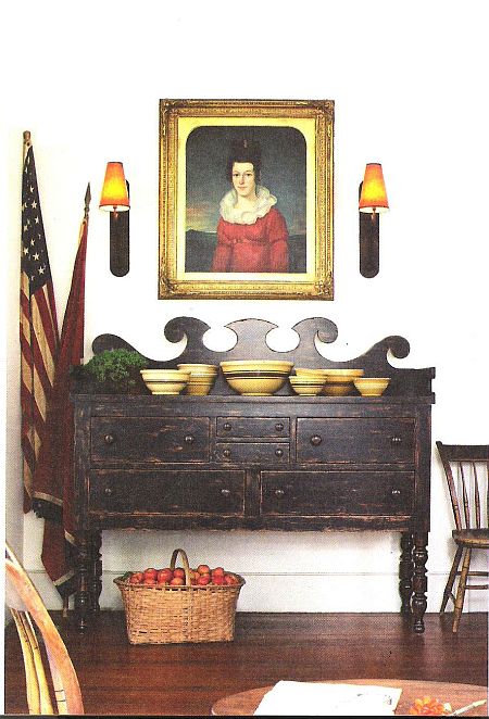 country furniture and sconces