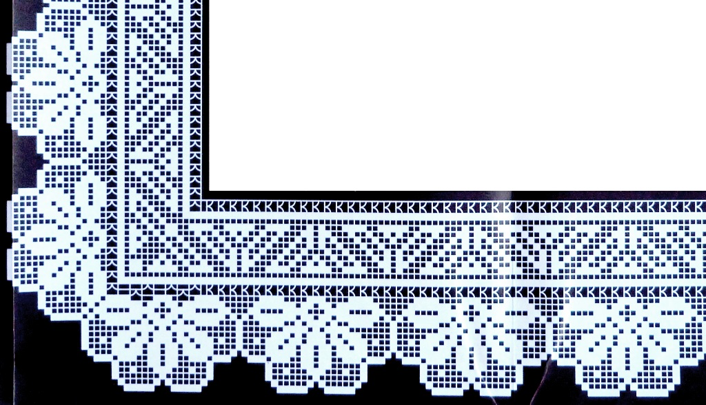 Crochet em revista ponta for Schemi bordure uncinetto filet