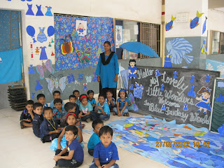 Firstep the pre school - Blue day celebration ideas ...
