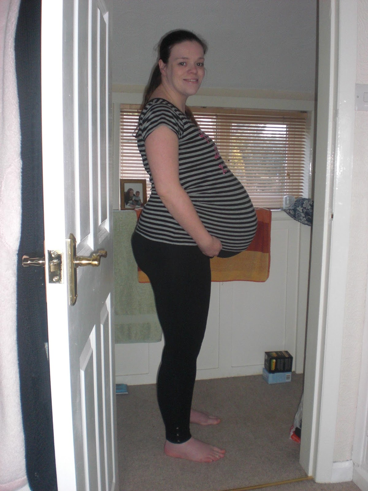9 months full term pregnant lactating 5
