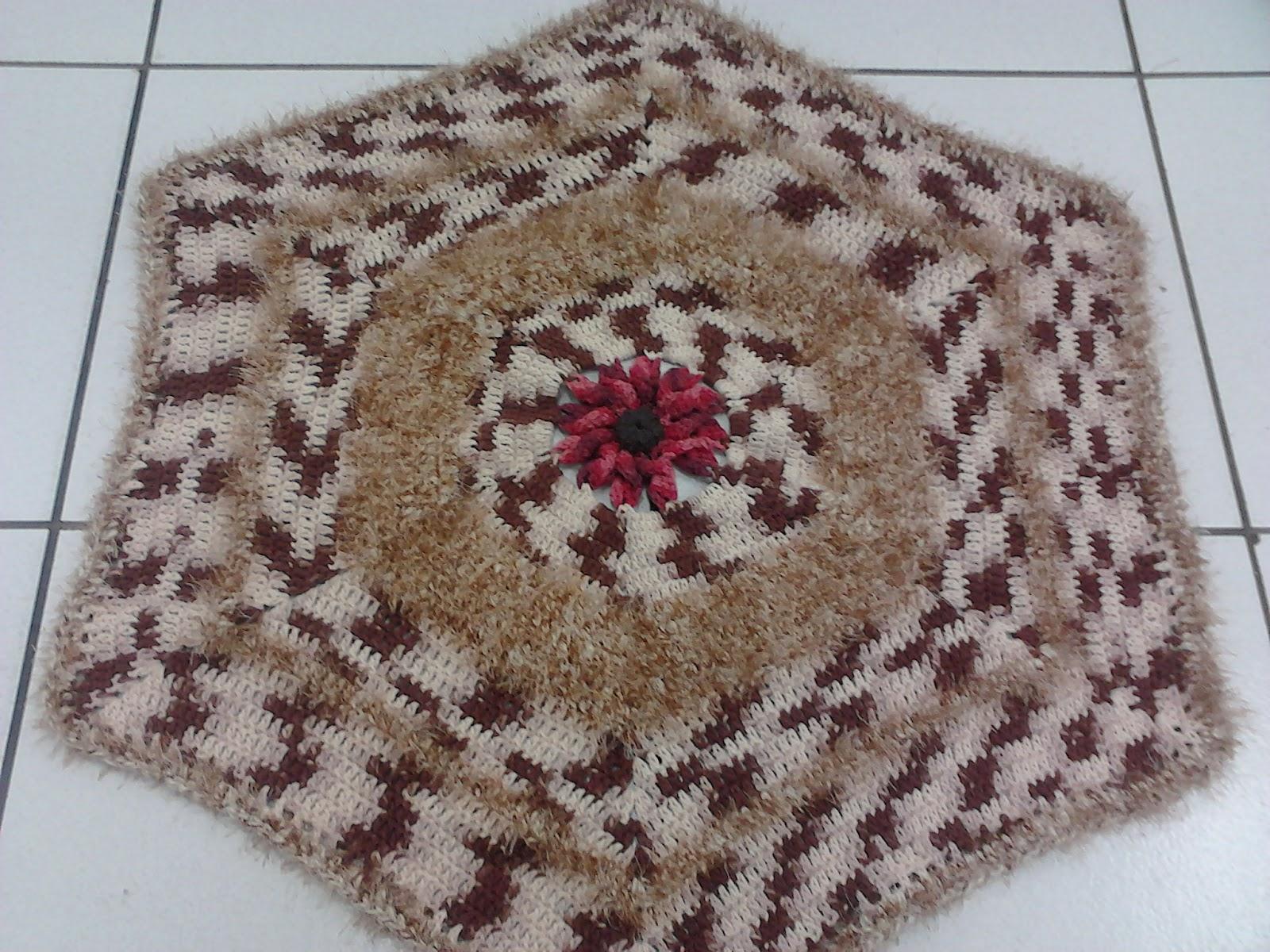 Artes mil artesanatos e cursos tapete de sala em croche for Clases de tapetes