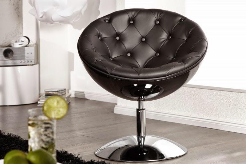dizajnove kreslo, cierna stolicka,  moderne kreslo v ciernej farbe