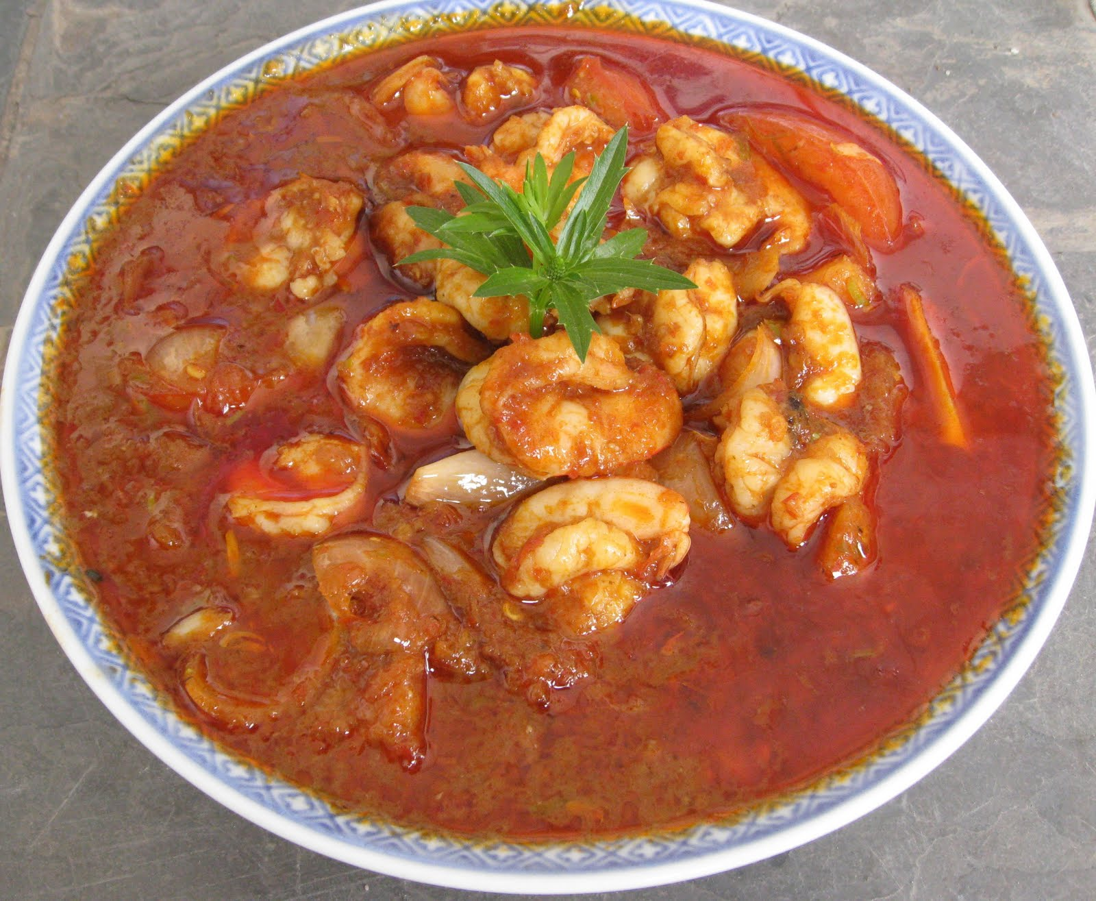 My Asian Kitchen: My Mom's Sambal Udang (Assam Udang)