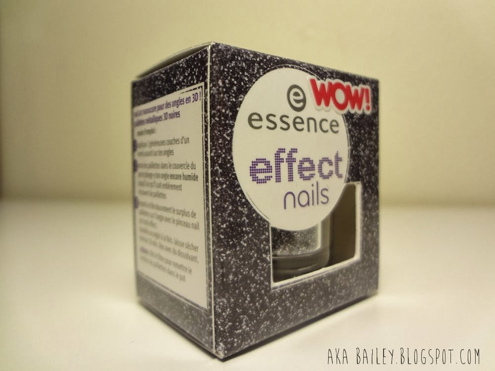 Essence Effect Nails black and silver glitter