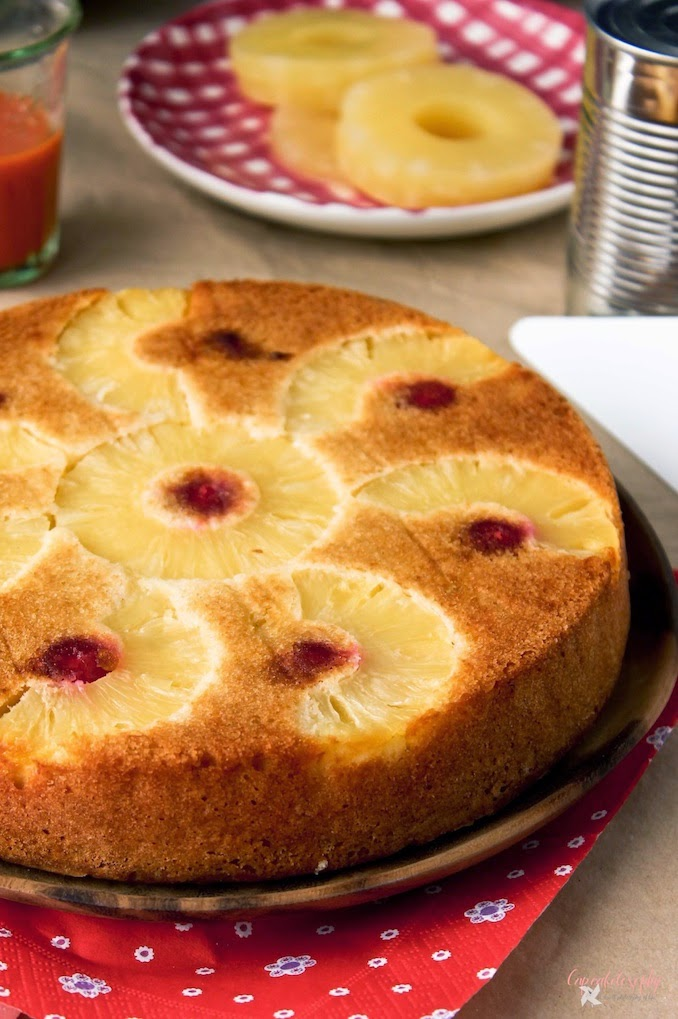 Tarta de piña invertida - Pineapple upside down cake