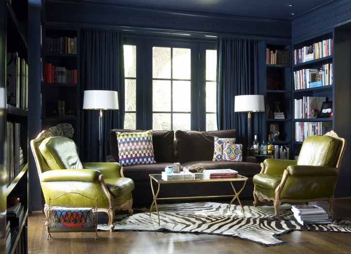 Sybaritic Spaces: Navy Rooms...Yay or Nay?
