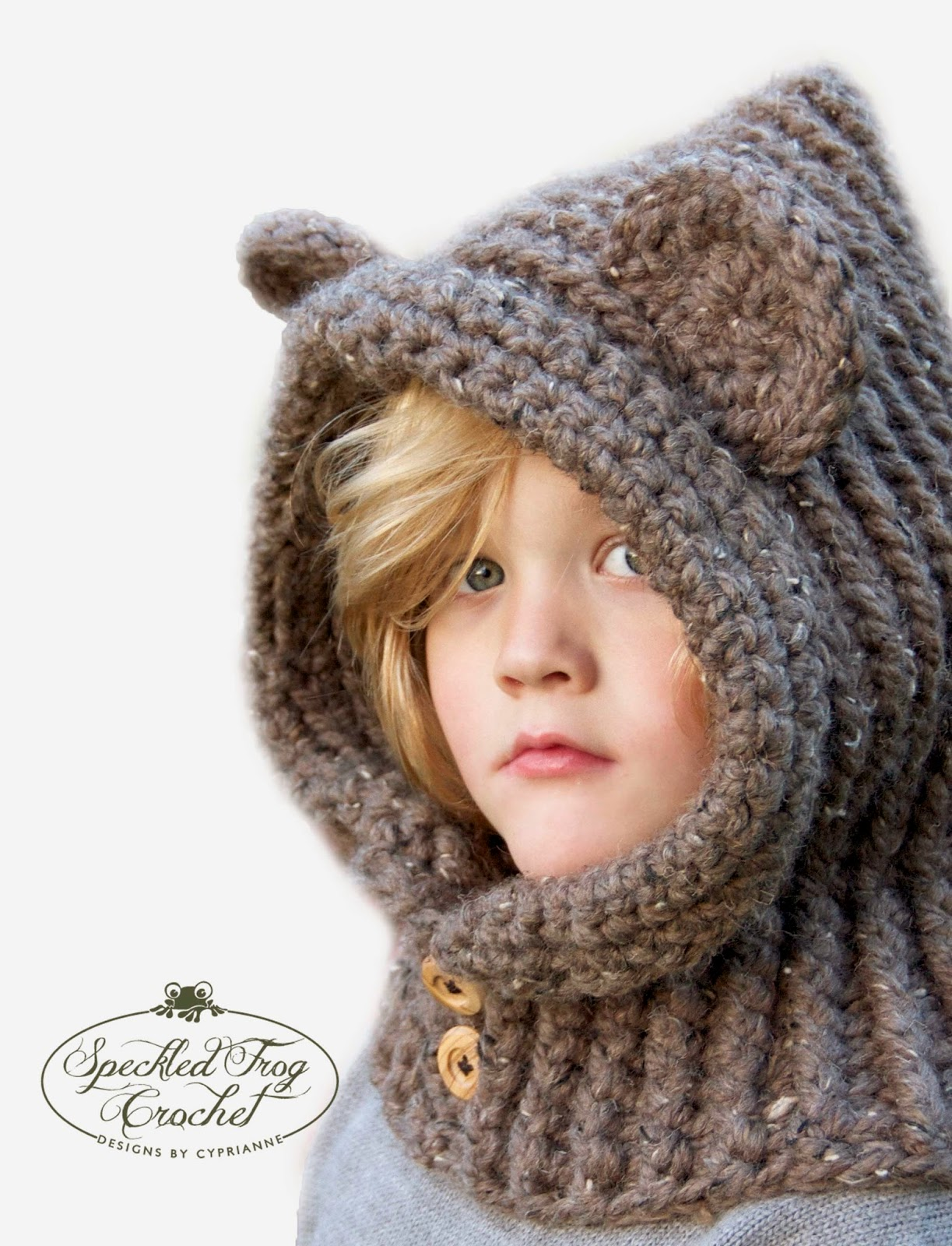 Free Teddy Bear Cowl Crochet Pattern : Pretty Darn Adorable Crochet: CROCHET HOODED BEAR COWL PATTERN