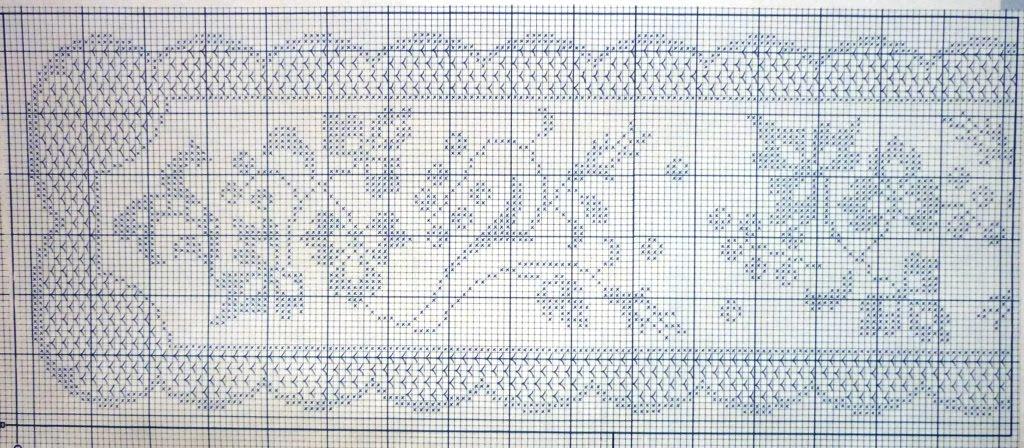 Вязание филейное дорожка 269