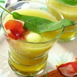 Ligera y dietética alternativa al melón con jamón