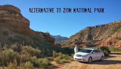 Buick LaCrosse outside of Zion National Park